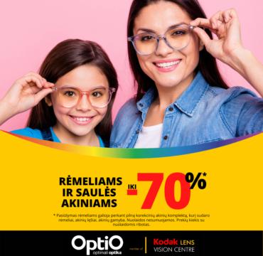 OPTIO. Rėmelių ir saulės akinių išpardavimas!