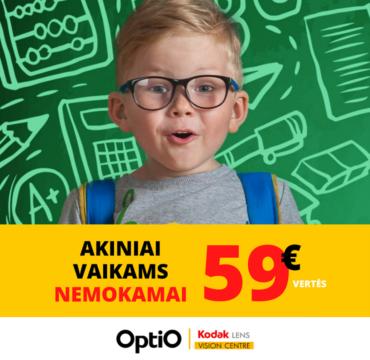 OPTIO – korekciniai akiniai vaikams NEMOKAMAI!