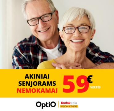 OPTIO – korekciniai akiniai senjorams NEMOKAMAI