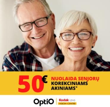 OPTIO. 50 Eur nuolaida senjorų korekciniams akiniams!