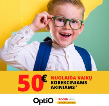 OPTIO – 50 € nuolaida vaikų korekciniams akiniams!