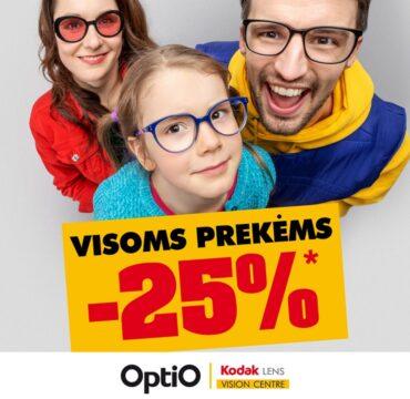 OPTIO – 25% nuolaida visoms prekėms