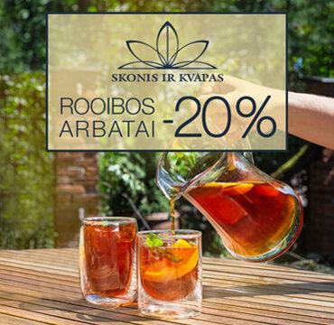 SONIS IR KVAPAS – 20% nuolaida rooibos arbatoms