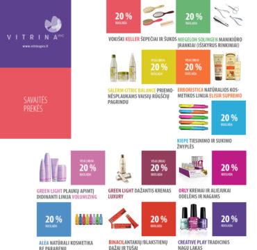 Savaitės prekės kosmetikos parduotuvėje VITRINA PRO