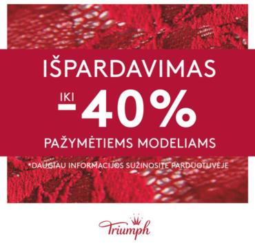 TRIUMPH – sezoninis išpardavimas!