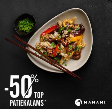 Manami. -50% TOP PATIEKALAMS