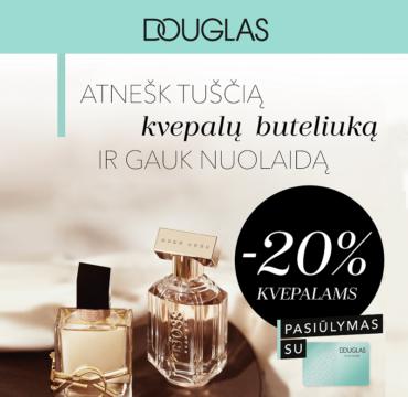 Gauk -20% nuolaidą mėgstamiausiems kvepalams!